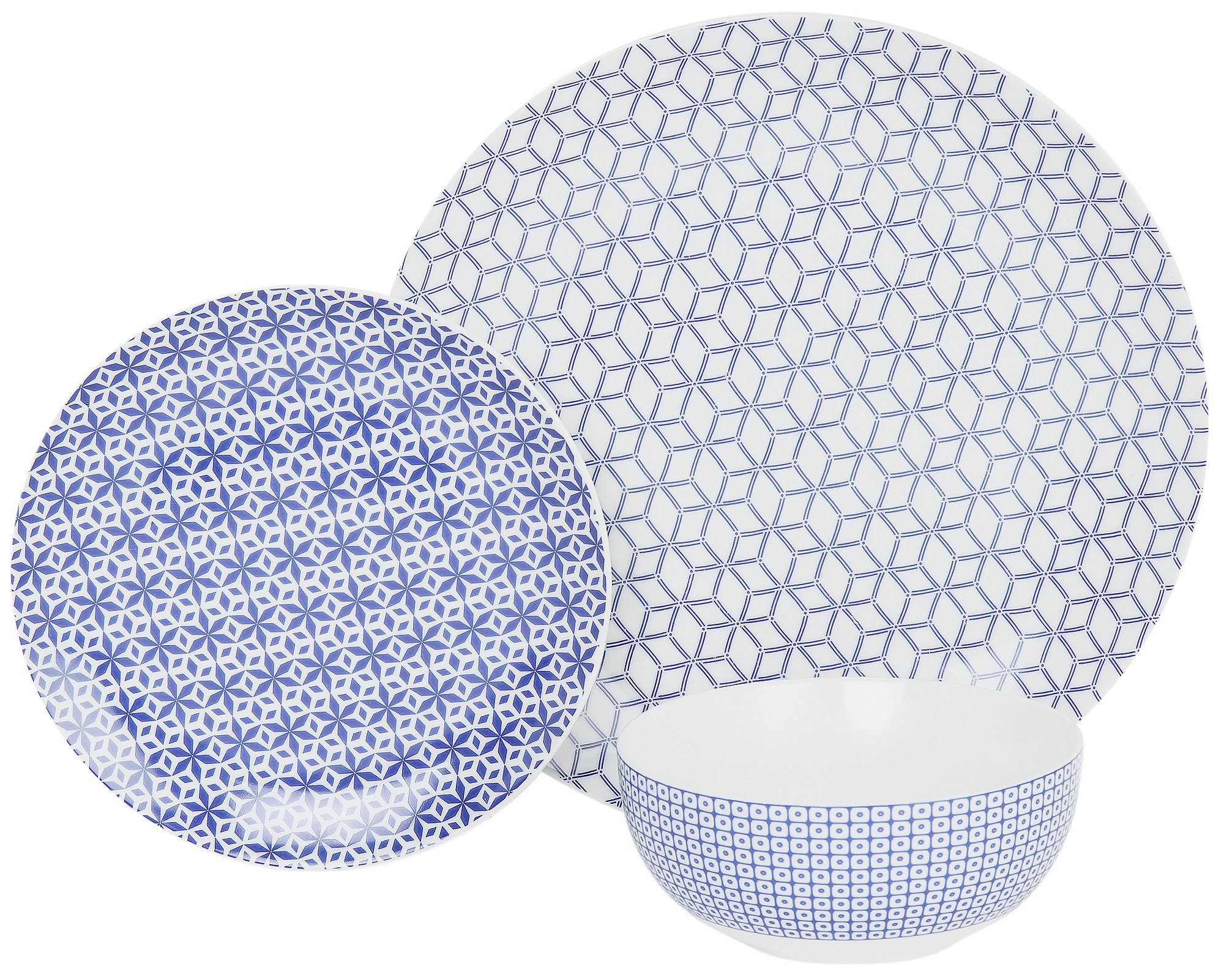 Image of Collection - Purity 12 Piece Dinner Set - Blue