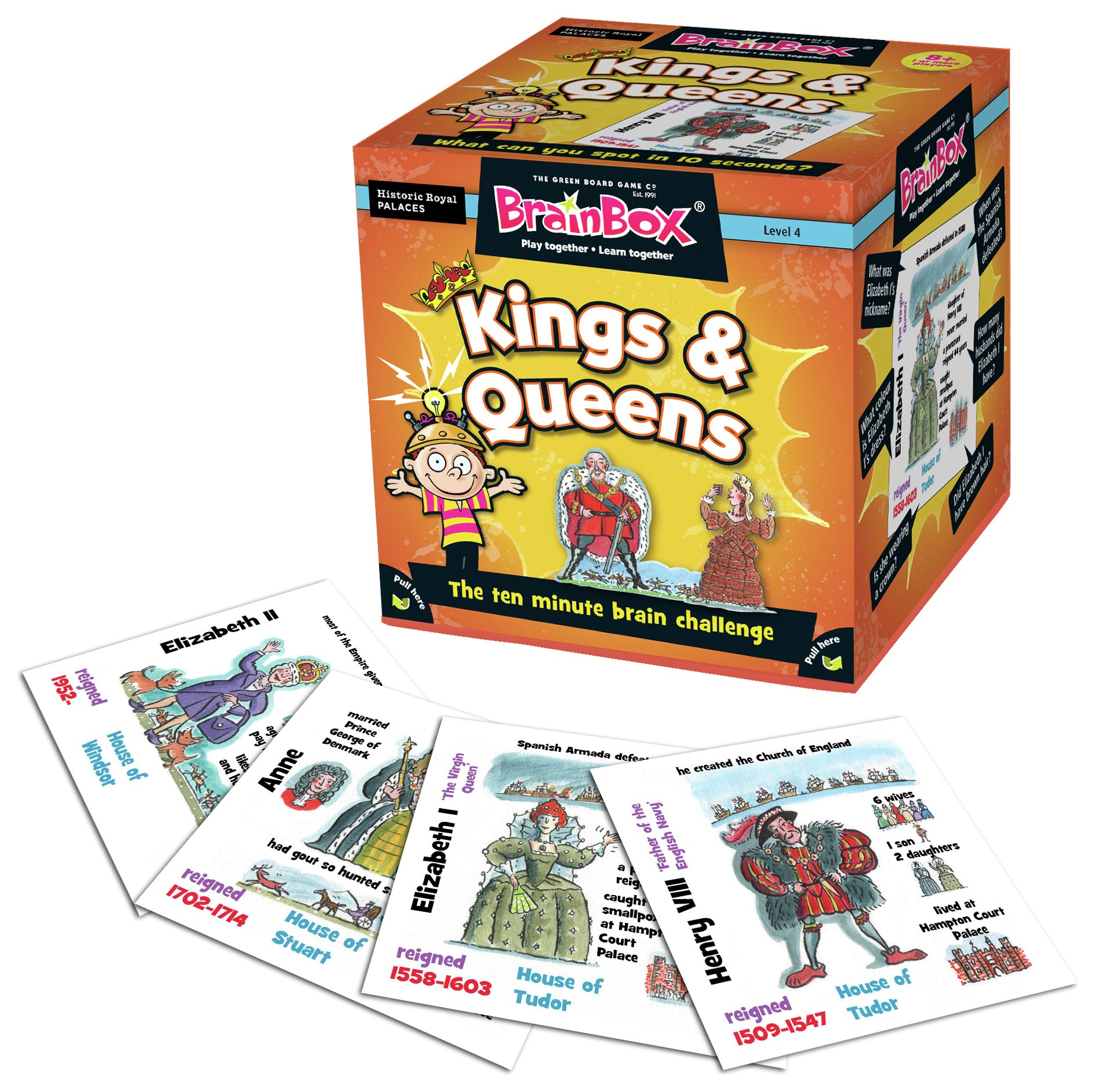 Image of BrainBox Kings and Queens of England Game.
