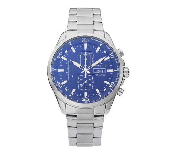 buy accurist men s silver chronograph watch at argos co uk your accurist men s silver chronograph watch622 4237