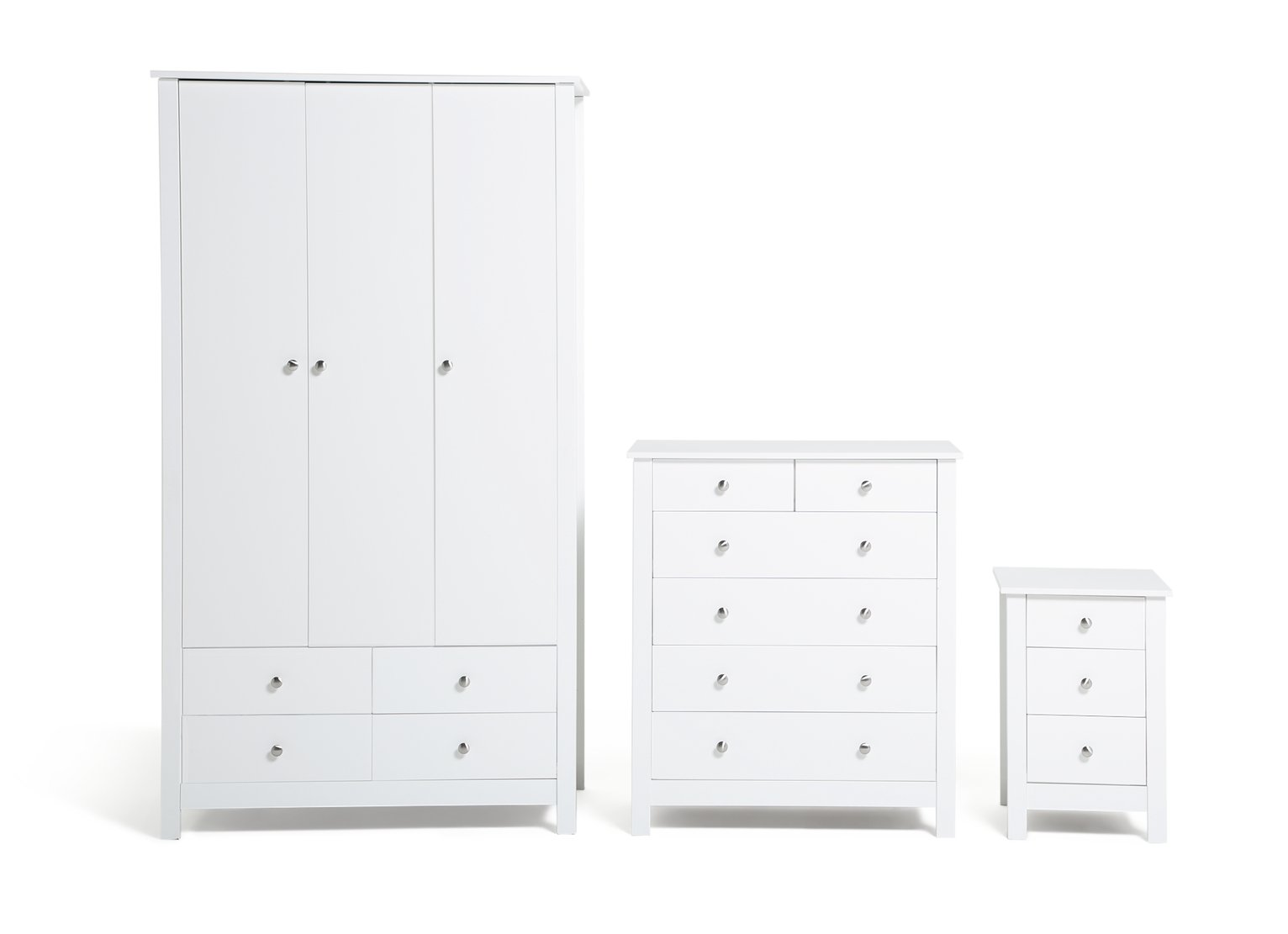 Buy Collection Osaka 3 Piece Bedroom Furniture PackageWhite at