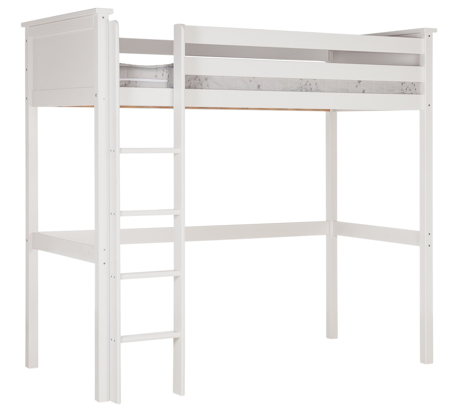 Argos Home Brooklyn White High Sleeper & Kids Mattress