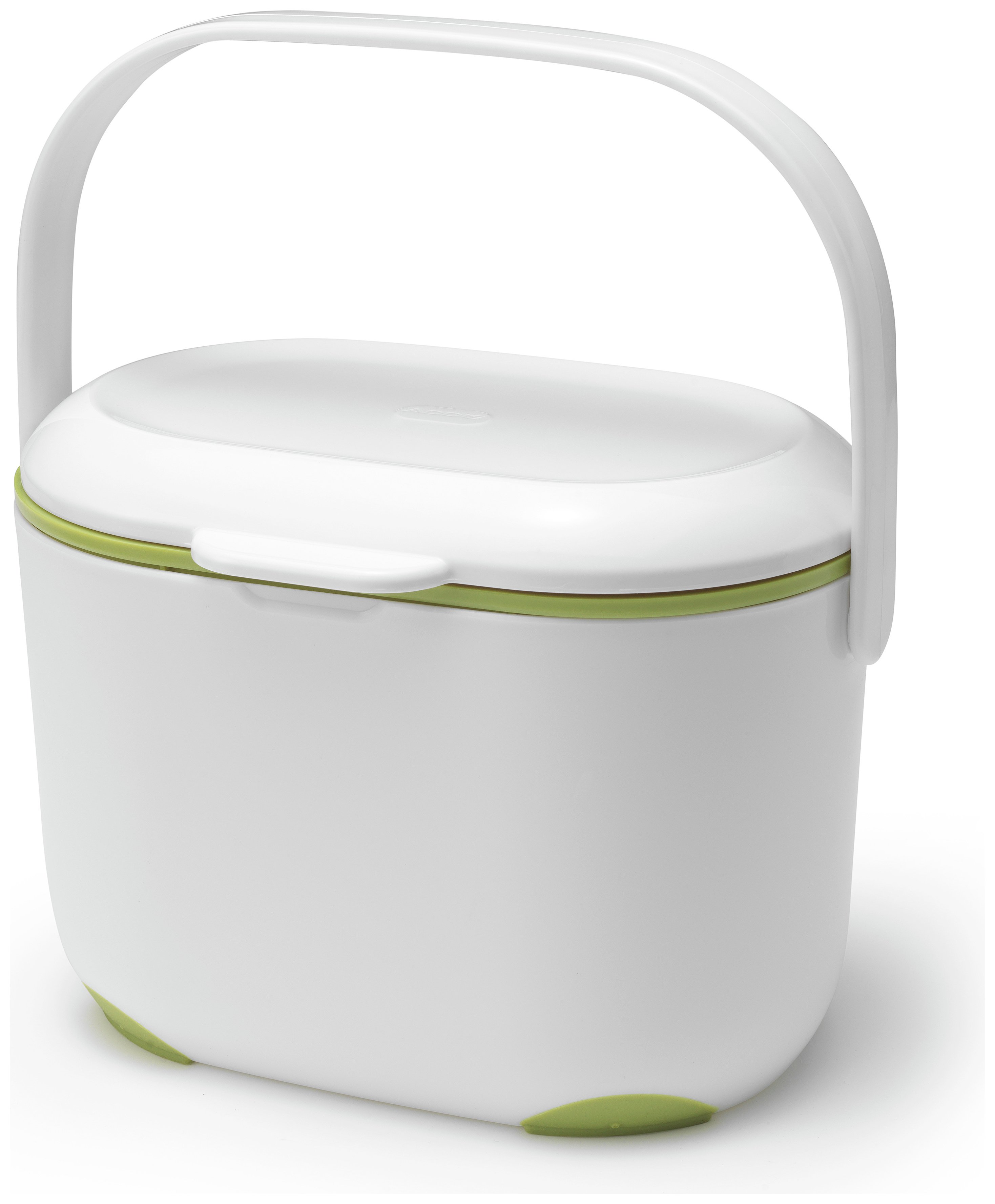 Image of Addis - Compost Caddy - Green and White