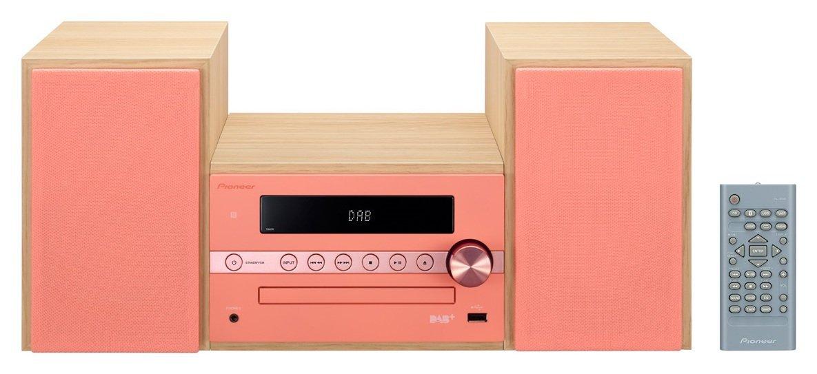 Pioneer X-CM56D CD DAB Bluetooth USB Micro System - Pink.