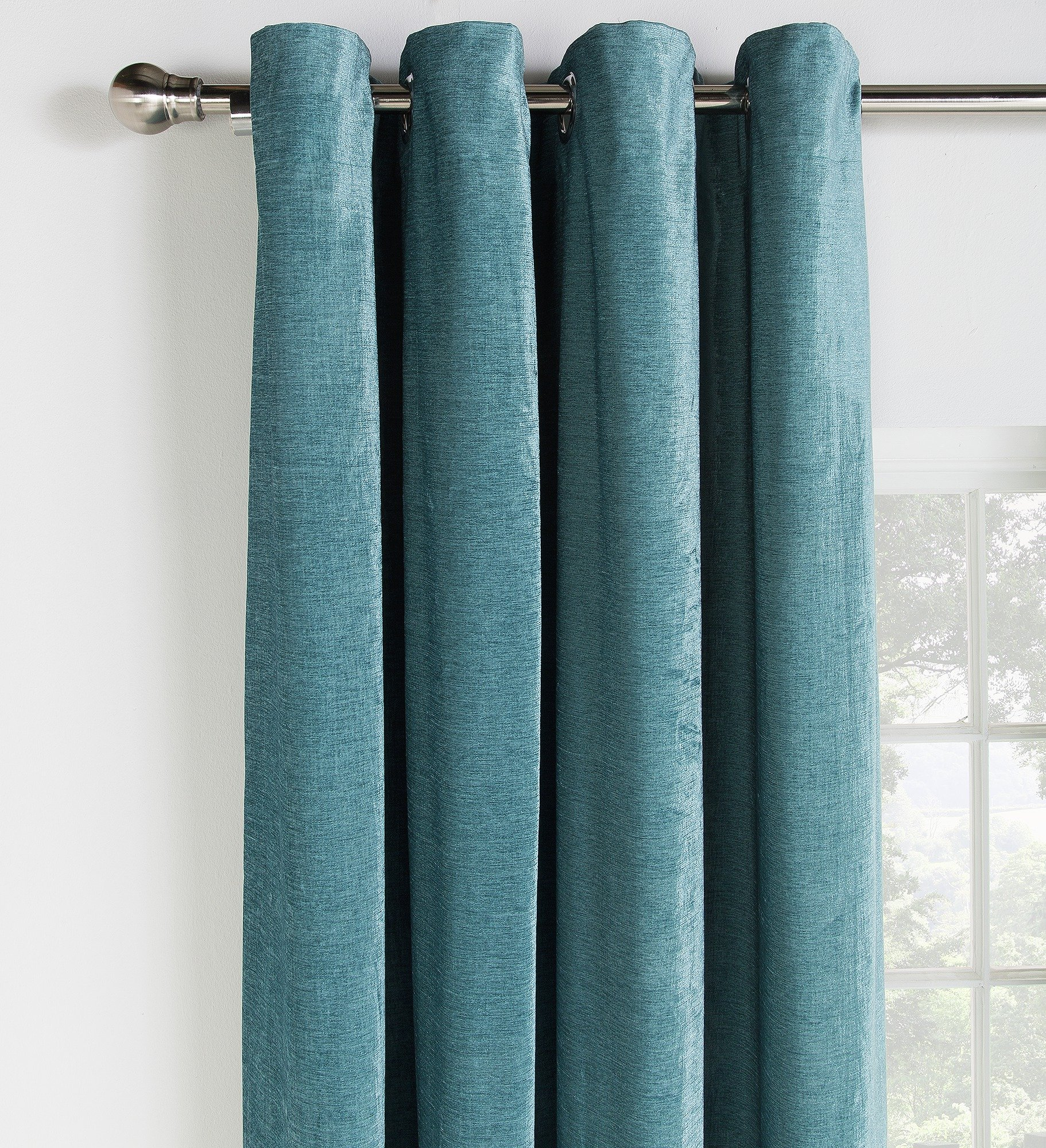 Green Curtains Shop For Green Eyelet Pencil Pleat Amp Tab