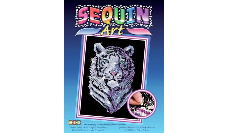 Buy Sequin Art Snow Tiger - Original | Toy craft kits | Argos