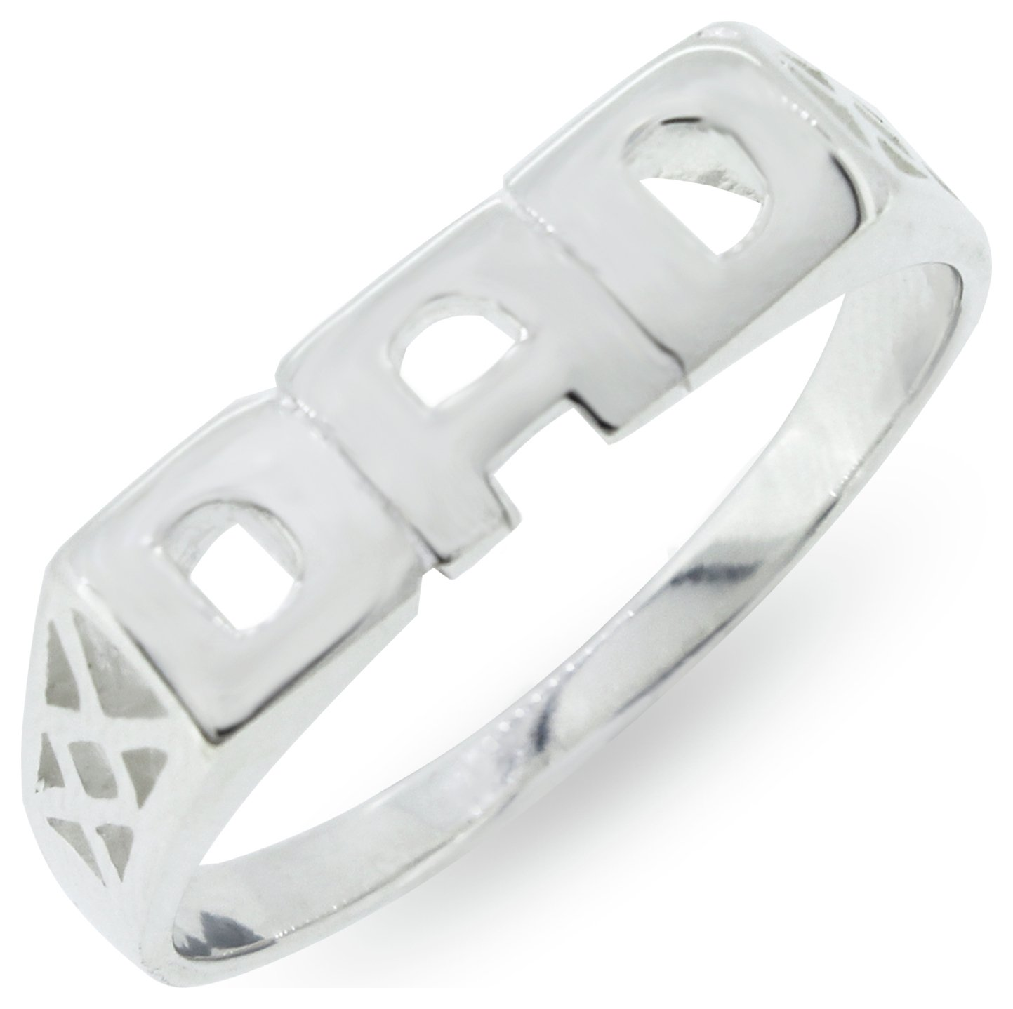 Sterling Silver Dad Ring And Personalized Rings For Dads