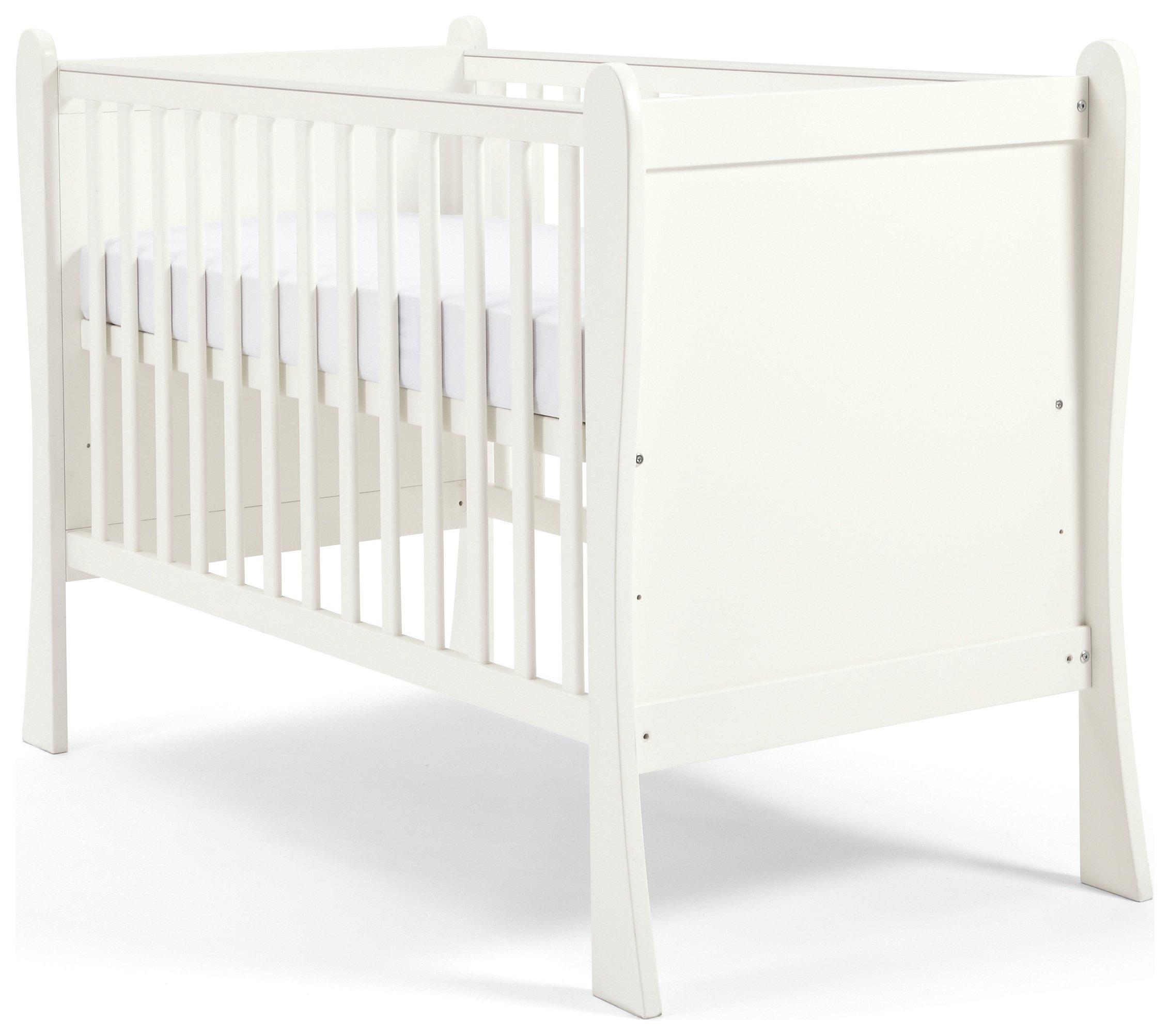 Mamas U0026 Papas Sleigh Furniture Cot   White