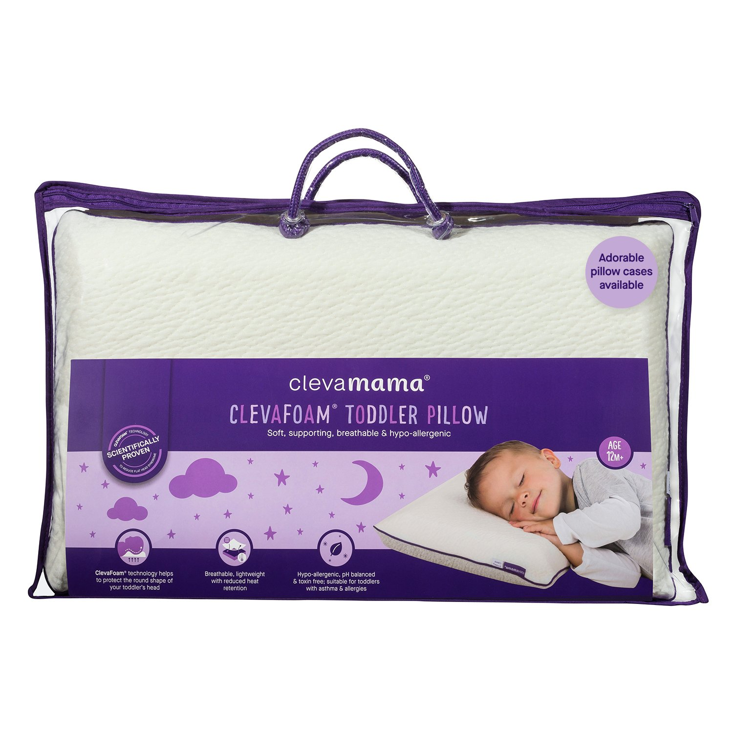 Clevamama ClevaFoam Toddler Pillow (+12 months)