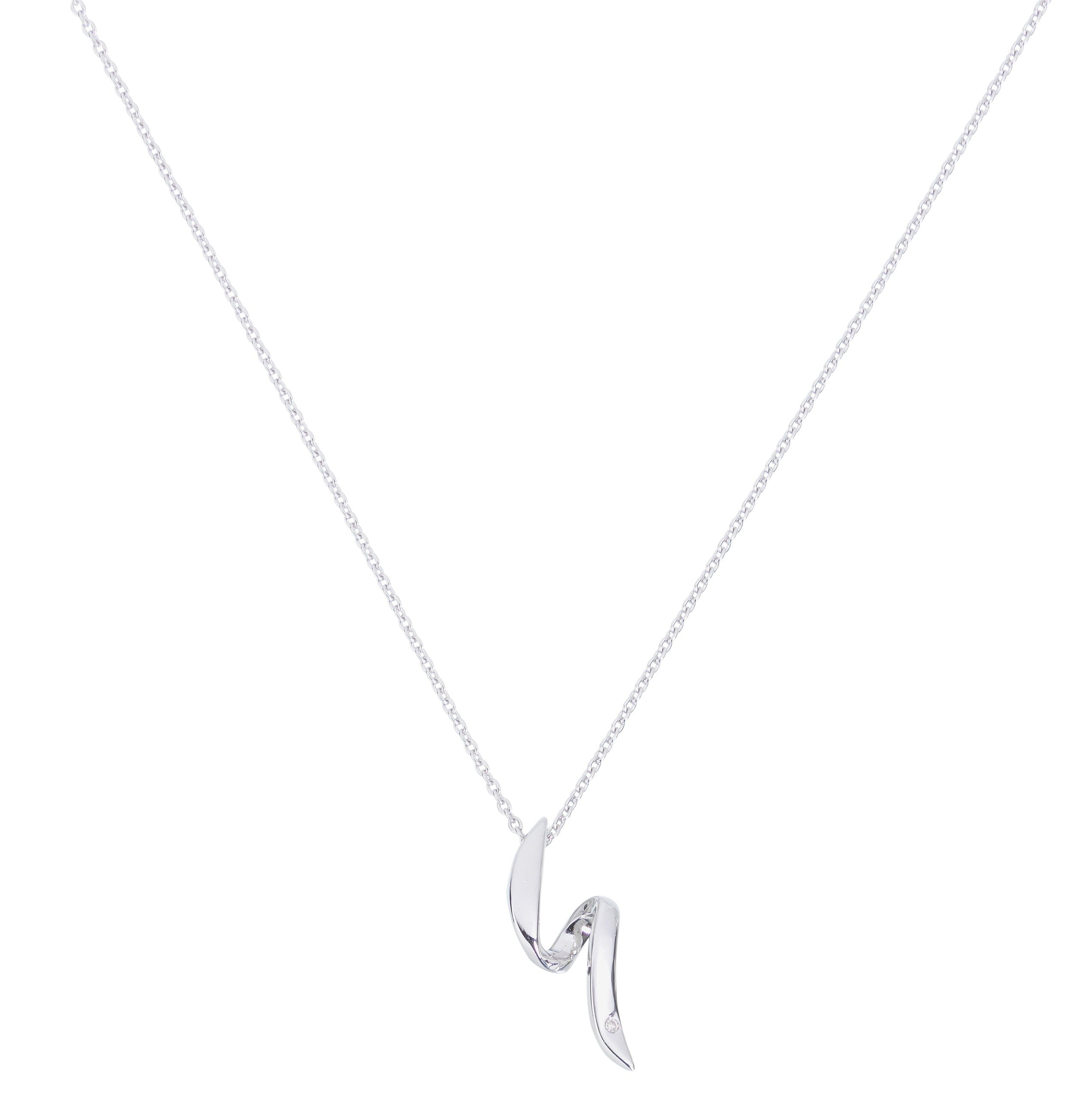 Image of Accents by Hot Diamonds Sterling Silver Flow Necklace