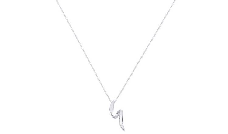 Accents by Hot Diamonds Silver Flow 18 Inch Necklace