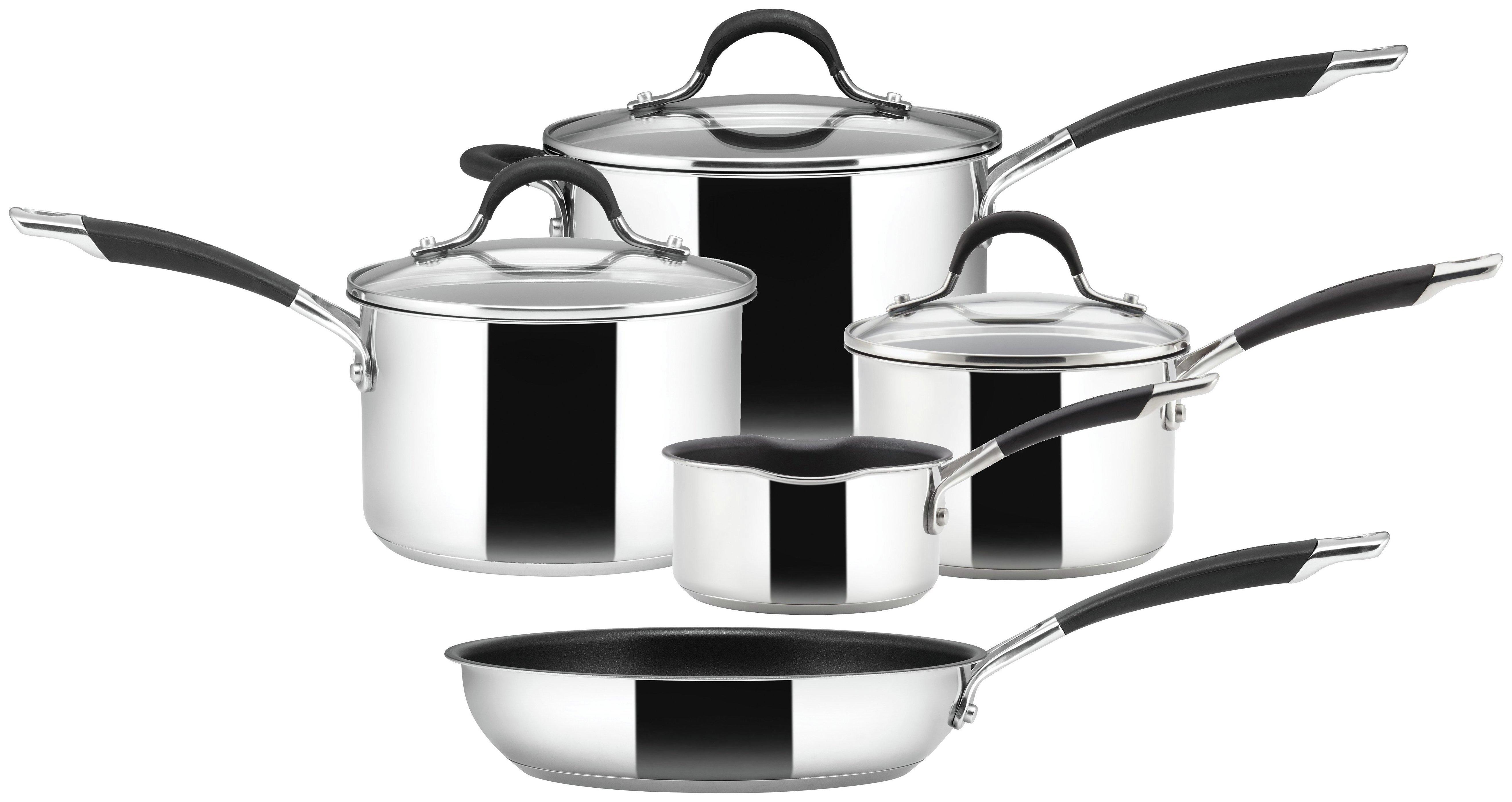 Image of Circulon Momentum - 5 Piece Stainless Steel Pan Set