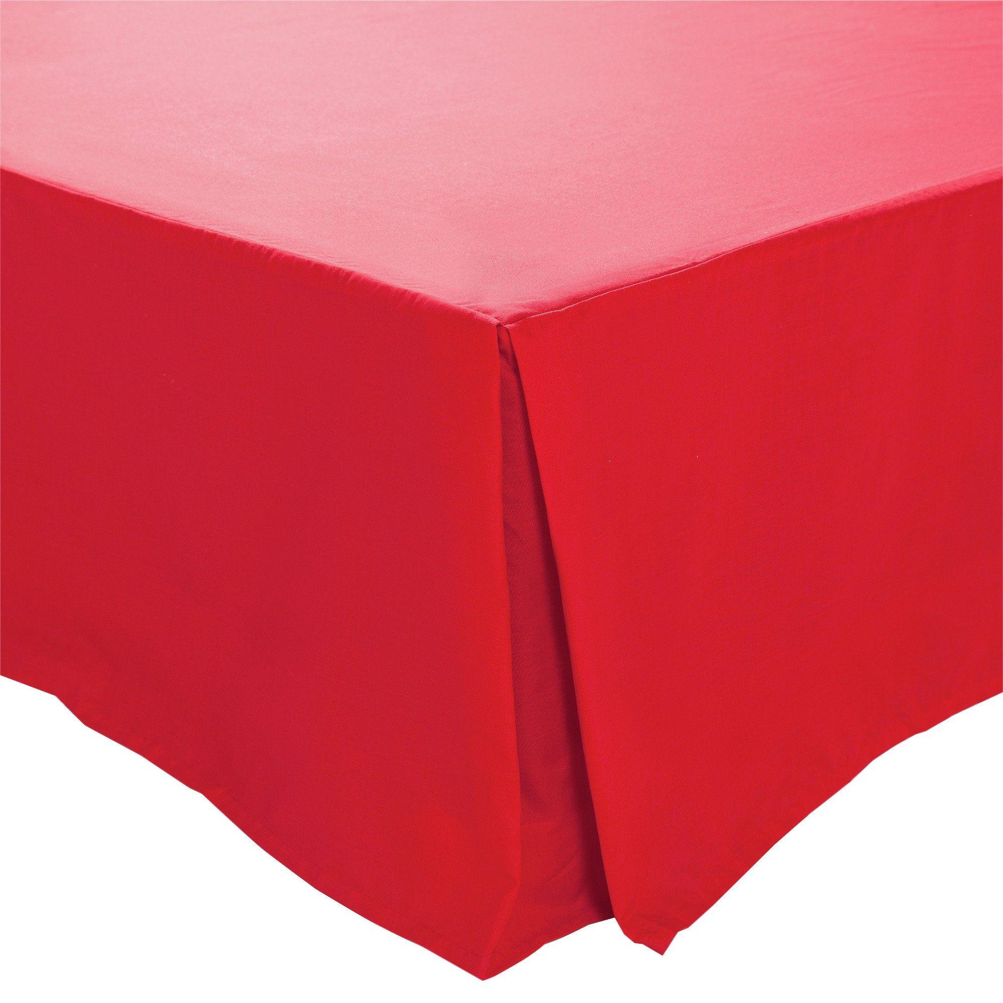colourmatch poppy red valance  double