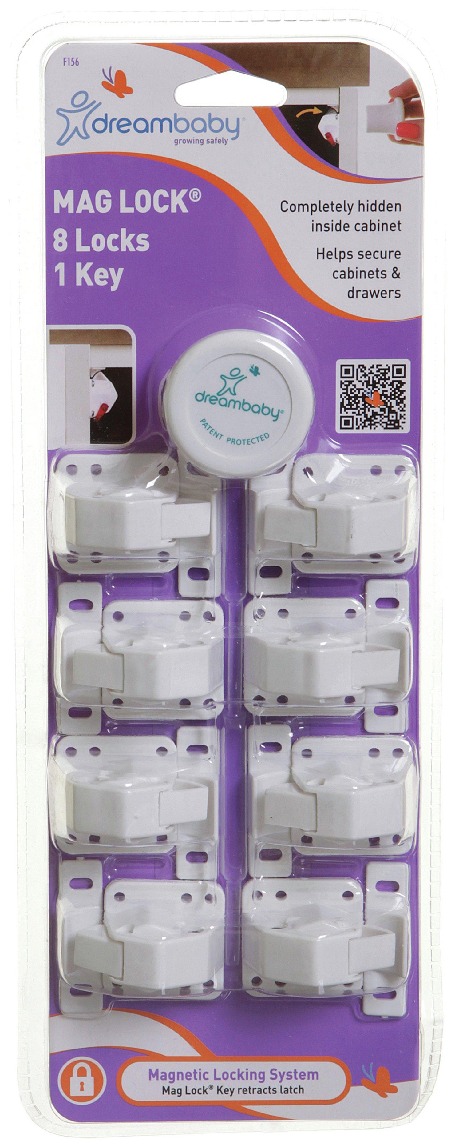 Dreambaby Classic Mag Lock - Set Of 8 Locks & 1 Key.