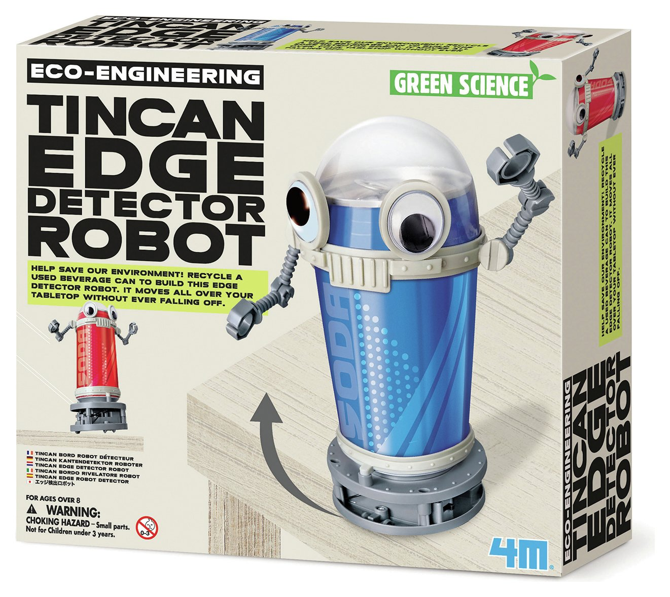 Image of 4M Green Science Eco Engineering Tin Can Edge Detector Robot
