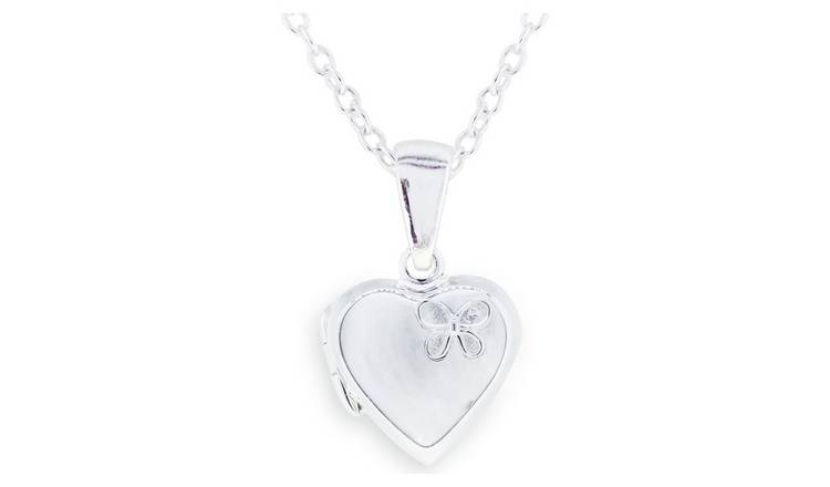 Revere Kid's Sterling Silver Butterfly Locket Pendant