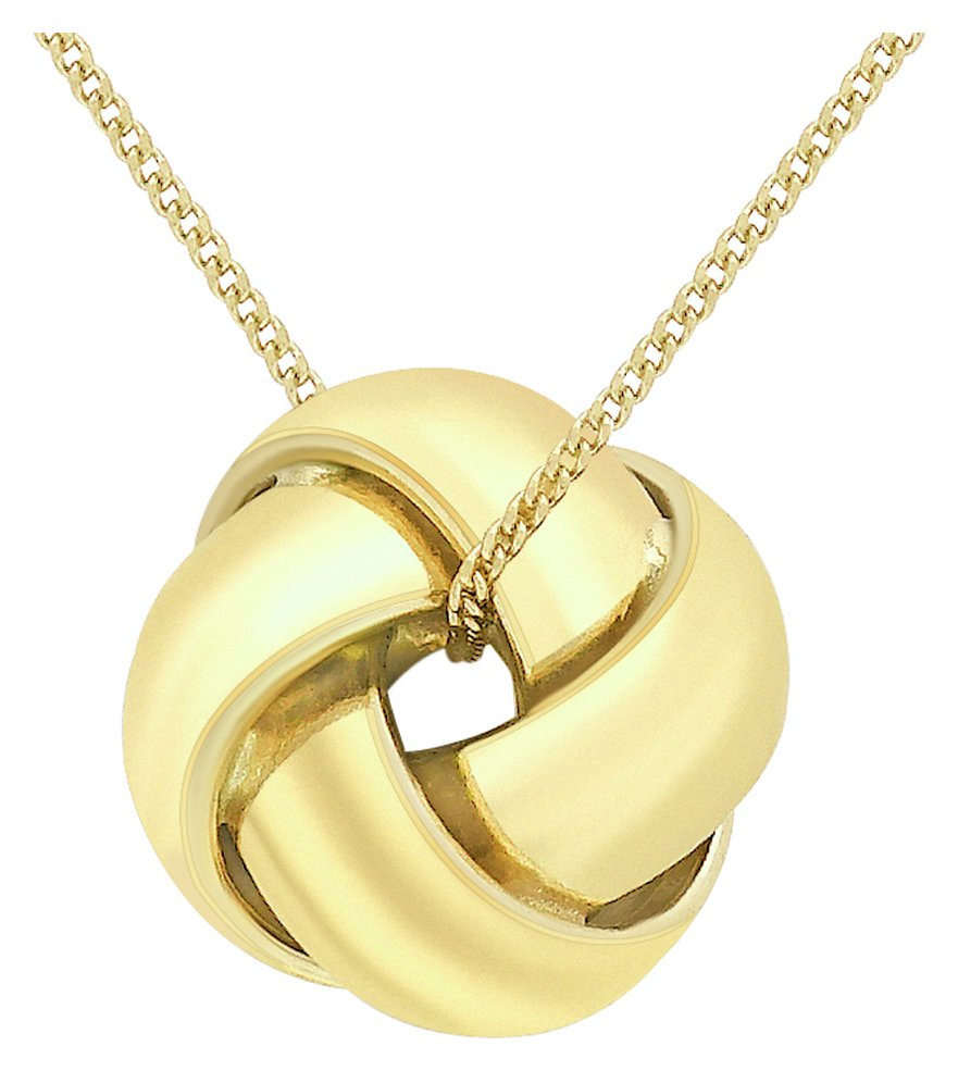 Image of Revere 9ct Gold Knot Pendant