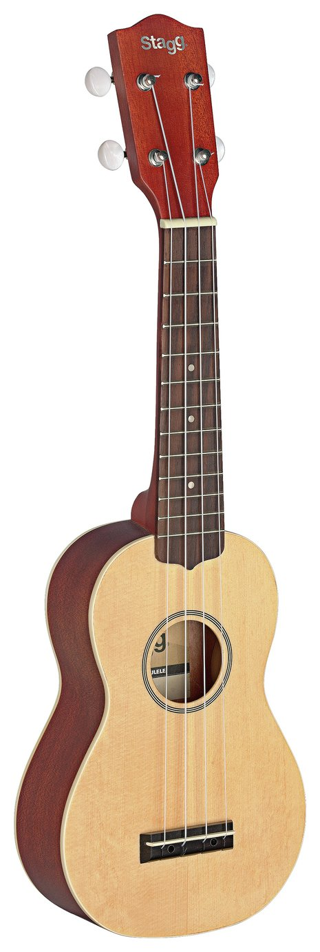 Stagg Soprano Ukulele Solid Spruce Top