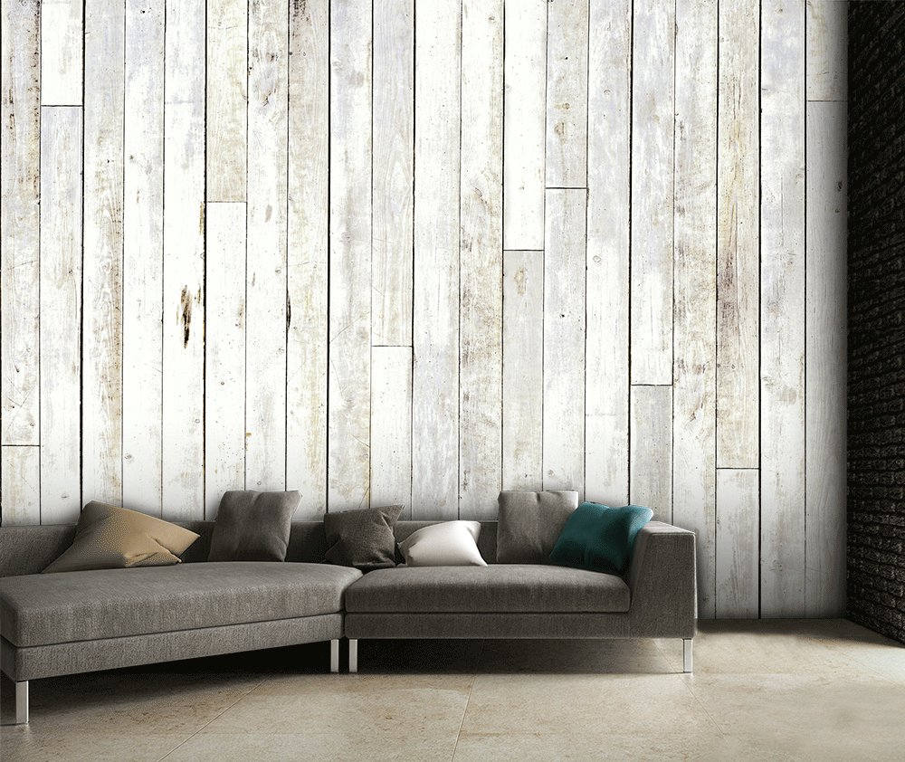 1wall neutral wooden wall mural.