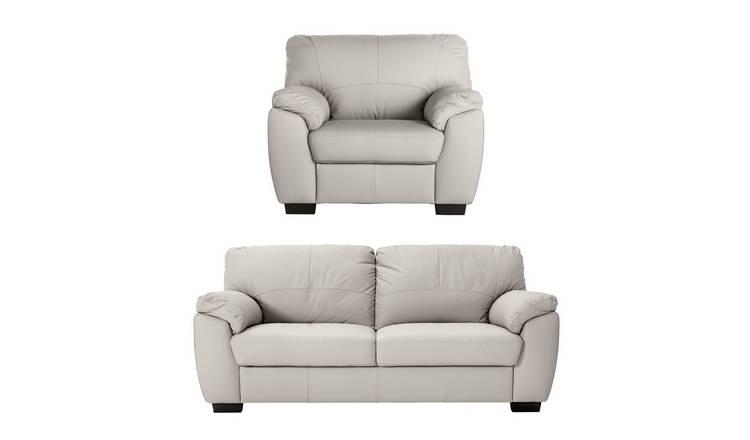 Phenomenal Buy Argos Home Milano Leather Chair 3 Seater Sofa Light Grey Sofa Sets Argos Pdpeps Interior Chair Design Pdpepsorg