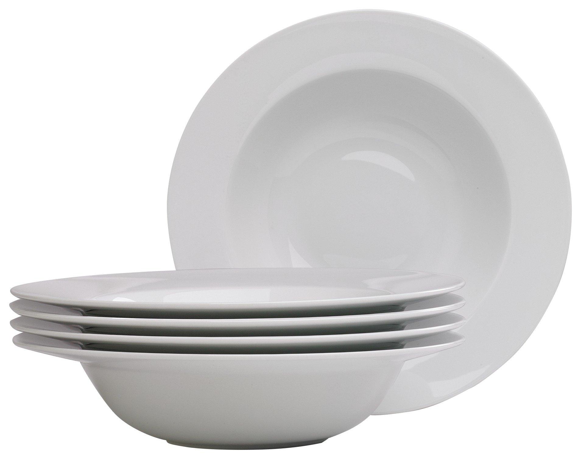 Argos Home Set of 4 Large Pasta Bowls - White