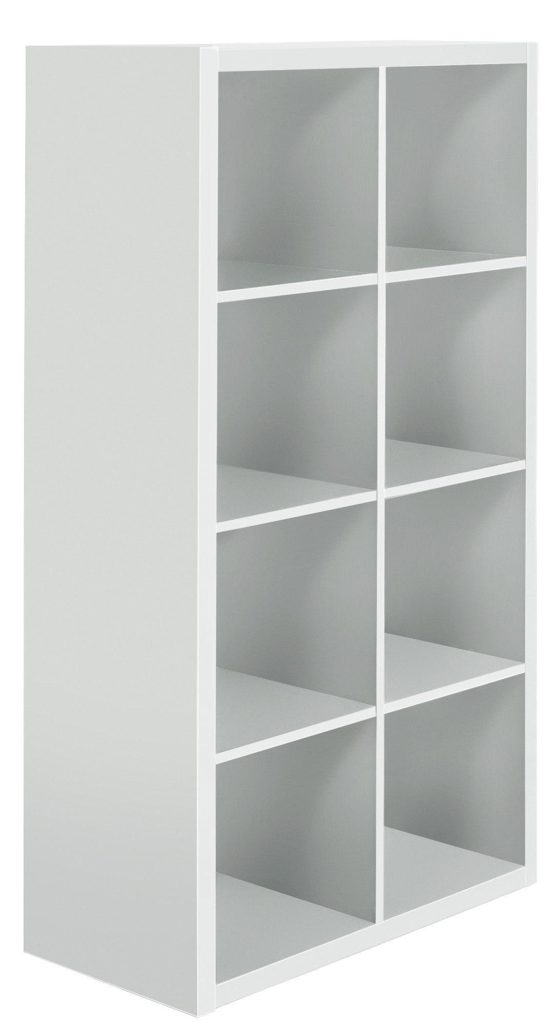 Hygena Squares Plus 8 Cube Storage Unit - White Gloss