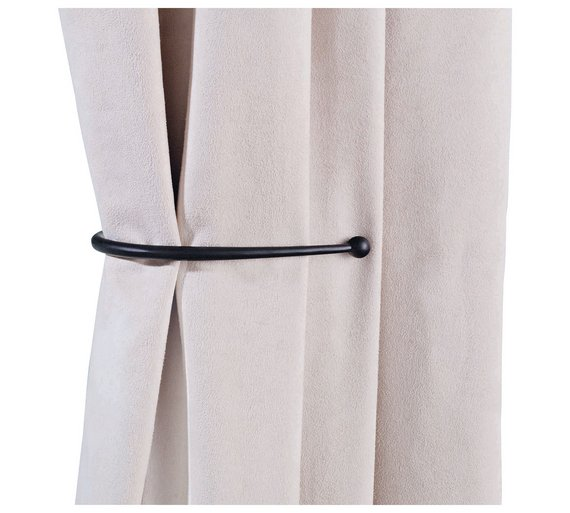 Buy HOME Pair of J-Shaped Curtain Holdbacks - Black at Argos.co.uk ...