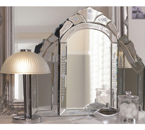 Buy collection venetian dressing table mirror silver at for Cheap dressing table with mirror