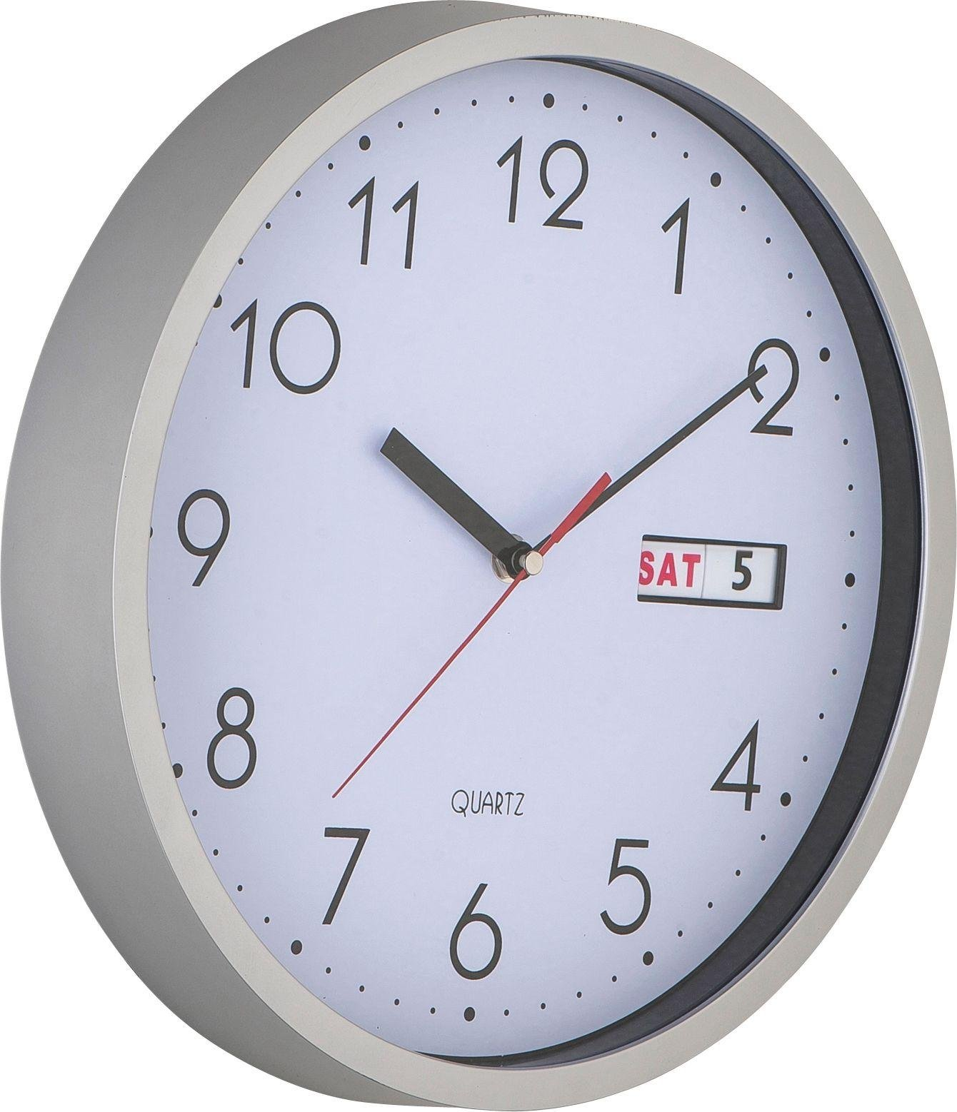 Karlsson Numbers Wall Clock In Silver