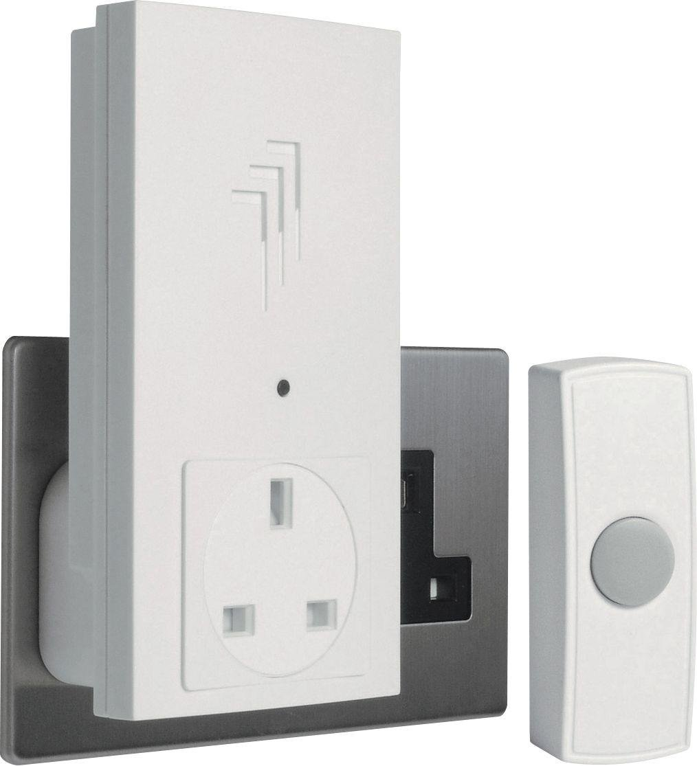 Image of Byron White 30m Plug Through Wireless Doorbell Kit