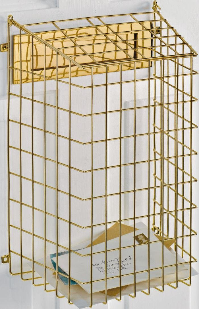 Argos Home Wall Mountable Letter Cage - Brass Finish