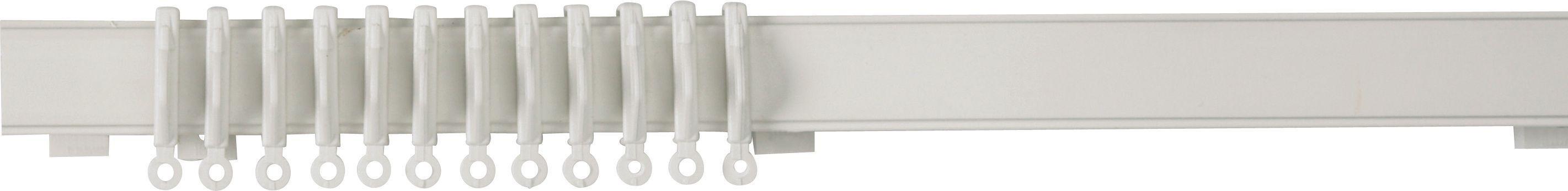HOME 1.2m Lightweight Plastic Curtain Track - White