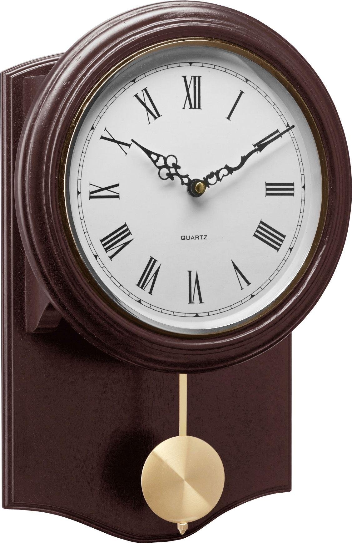 Buy HOME Brown Pendulum Wall Clock at Argoscouk Your Online