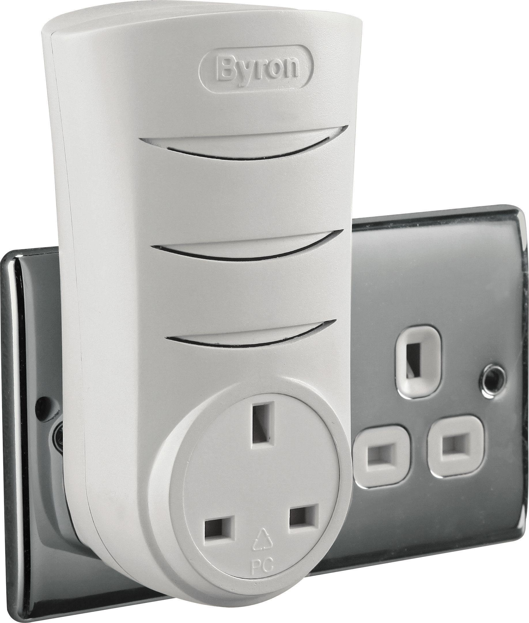 sale on byron white 60m plug through doorbell byron now. Black Bedroom Furniture Sets. Home Design Ideas