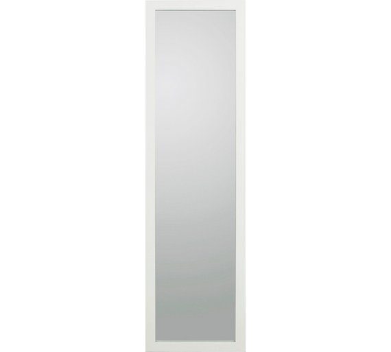Buy home wooden full length mirror white at for White long standing mirror