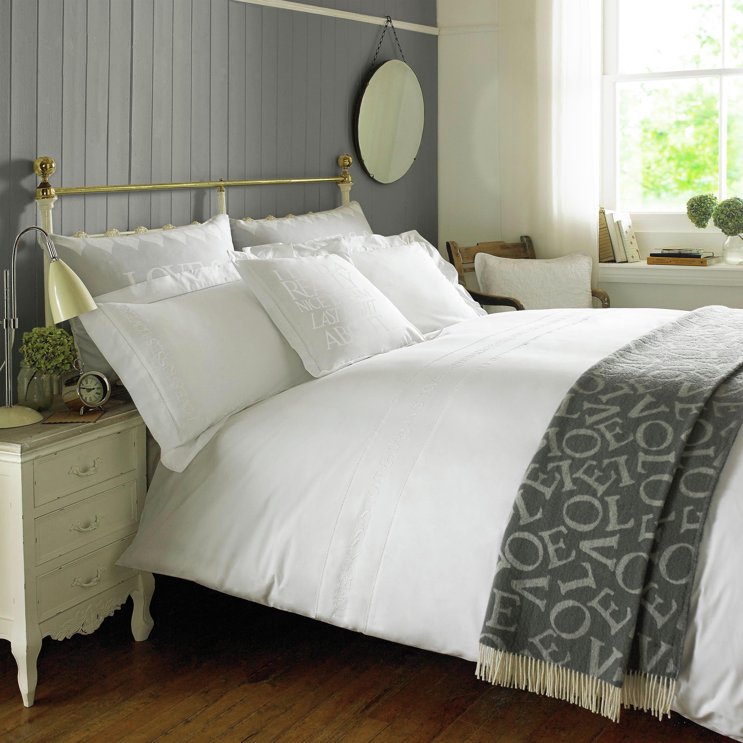 emma bridgewater  embroidered white  bedding set  kingsize