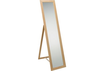 HOME Wooden Full Length Cheval Mirror - Oak Effect