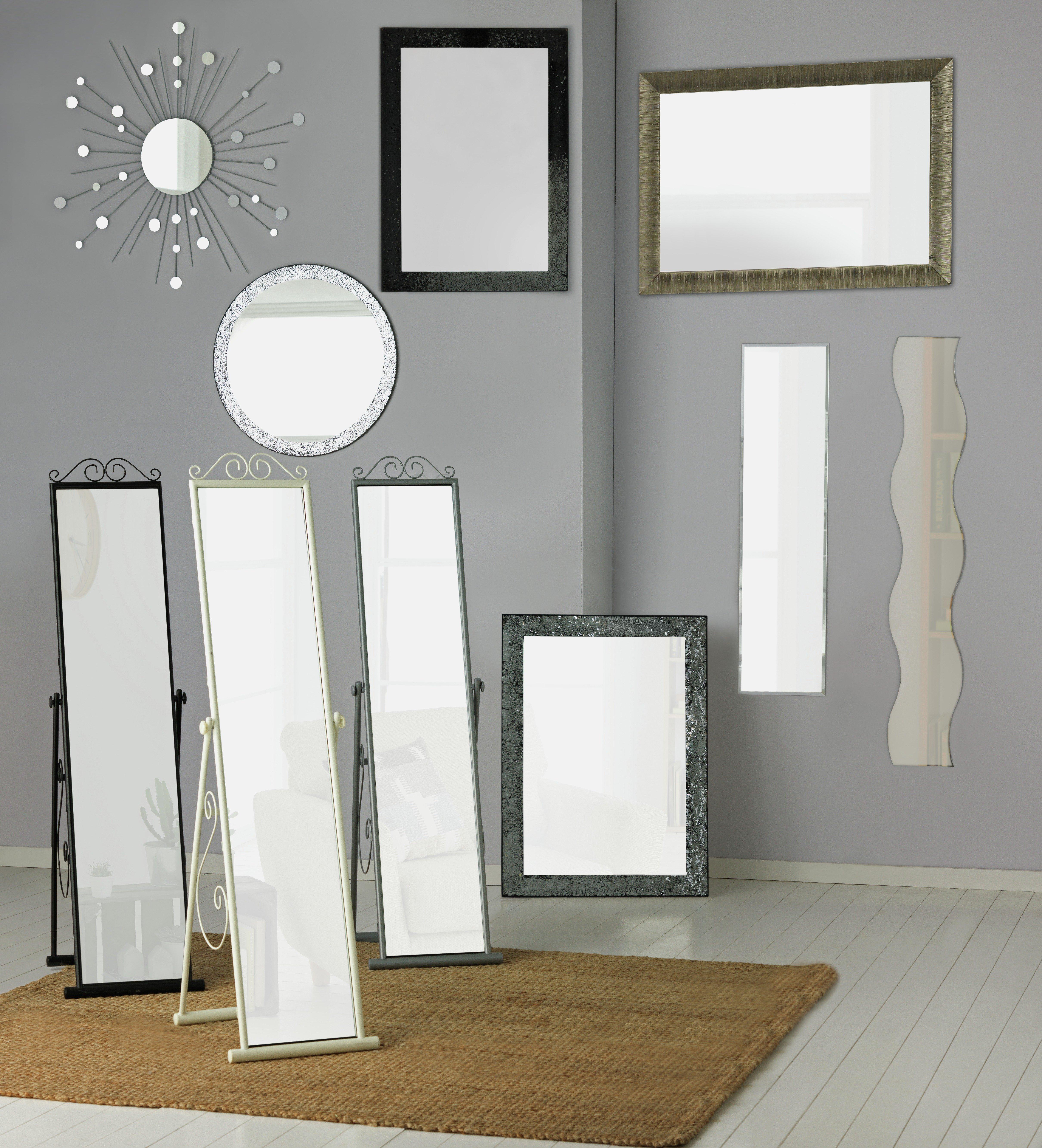 Frameless full length wall mirror