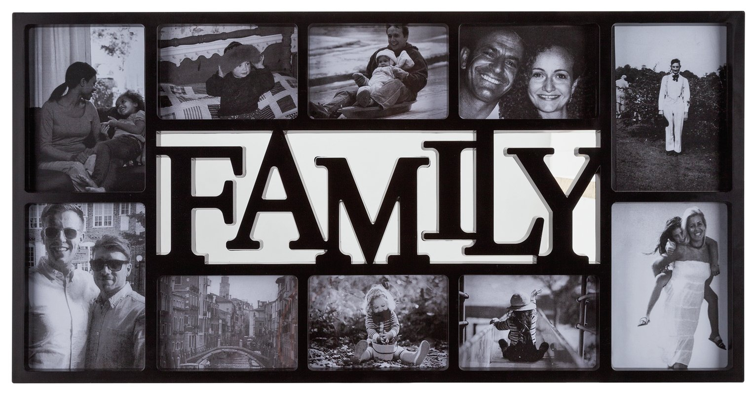 Image of HOME Family 10 Print Photo Frame - Black