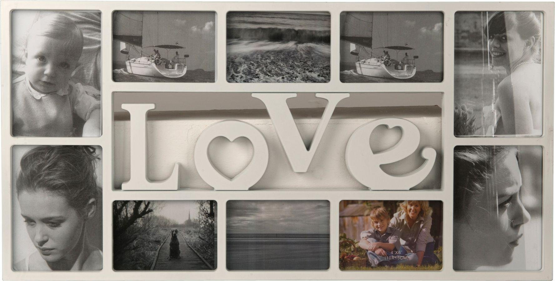 Image of HOME Love 10 Print Photo Frame - White
