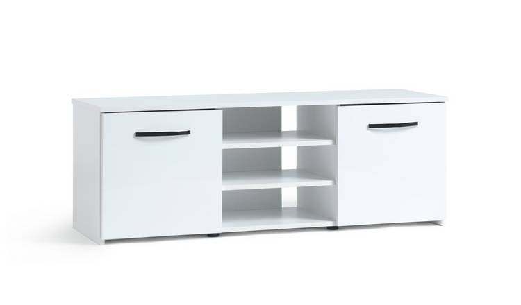 Habitat Hayward 2 Door Small TV Unit - White Gloss