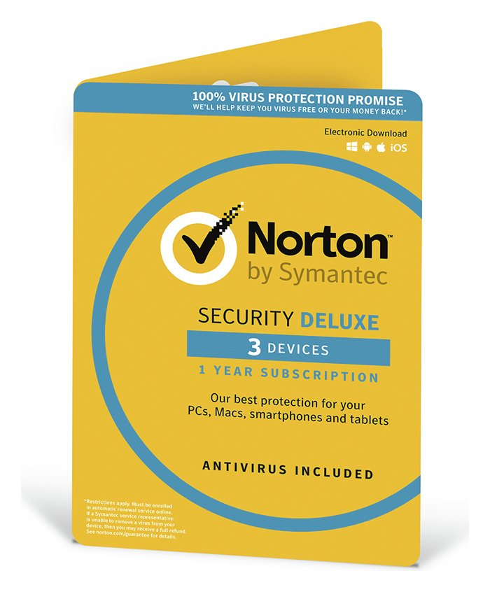 Norton Security Deluxe 2019 - 3 Devices for 1 Year