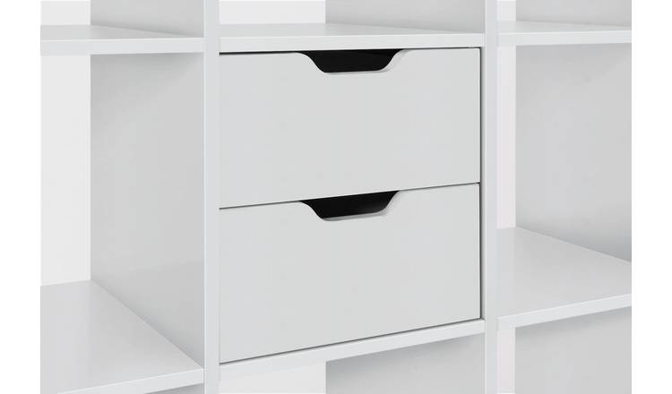 Argos Home Squares Plus Set of 2 Drawers - White