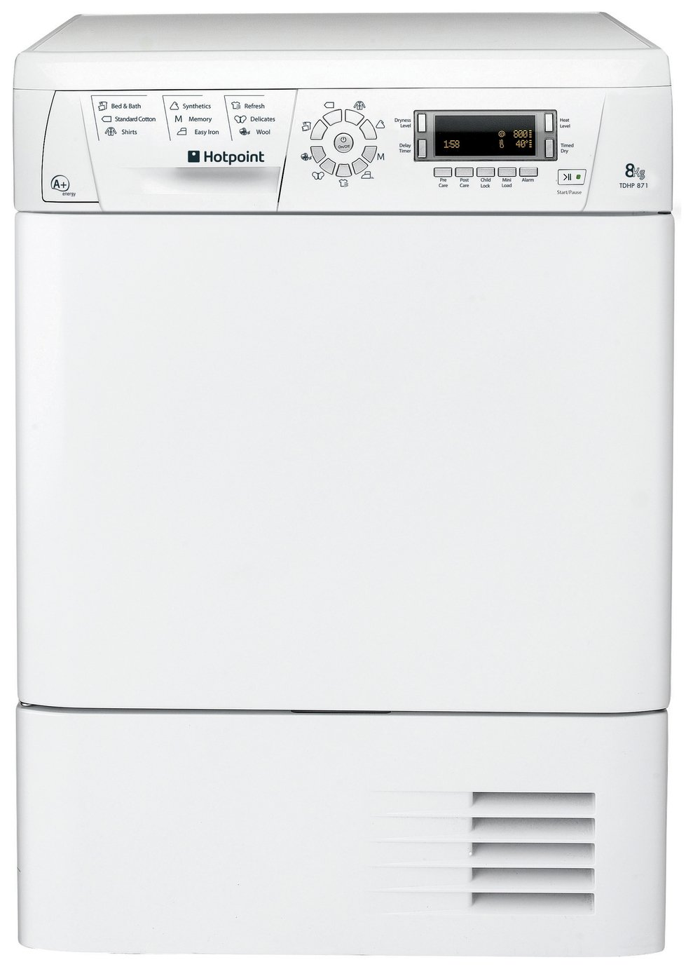 Hotpoint TDHP871RP 8KG Heat Pump Tumble Dryer - White