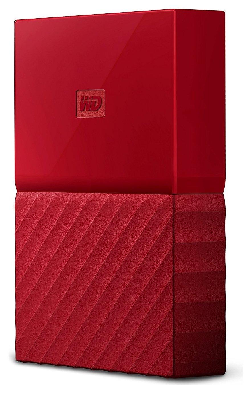 WD My Passport 2TB Portable Hard Drive - Red.