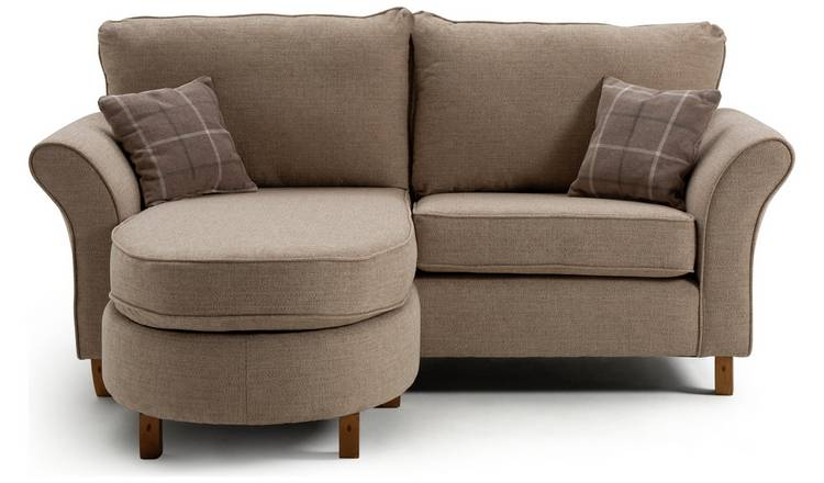 Argos Home Kayla 3 Seater Reversible Fabric Chaise - Beige