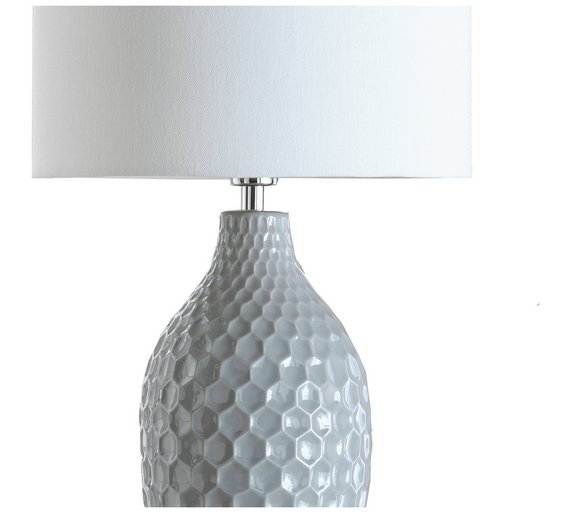 Buy heart of house woodburn hexagonal ceramic table lamp grey at heart of house woodburn hexagonal ceramic table lamp grey mozeypictures Gallery