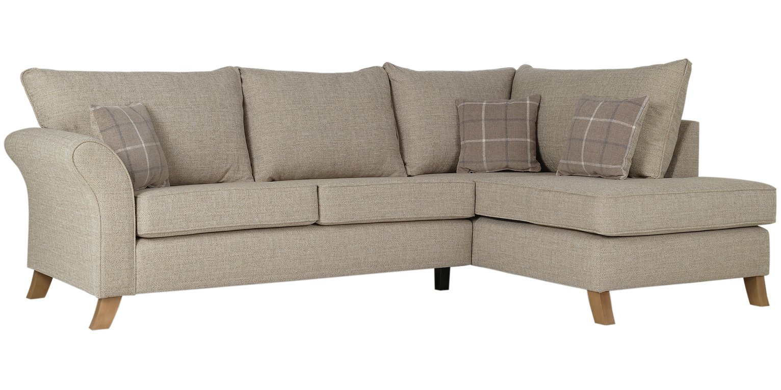 Argos Home Kayla Right Corner Fabric Sofa - Beige