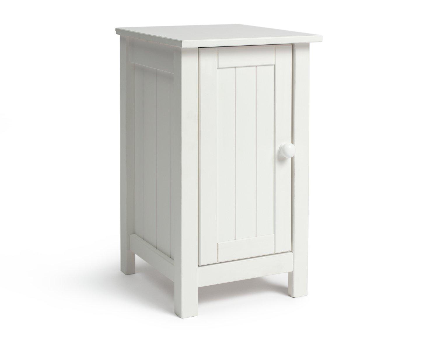 Habitat Scandinavia Slim Bedside Table - White