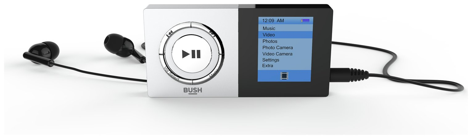 Bush Bush KW-MP04C 8GB Camera MP3/Video Player - Silver.