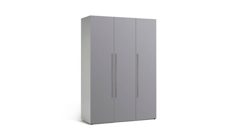 Habitat Atlas 3 Door Wardrobe - Grey Gloss